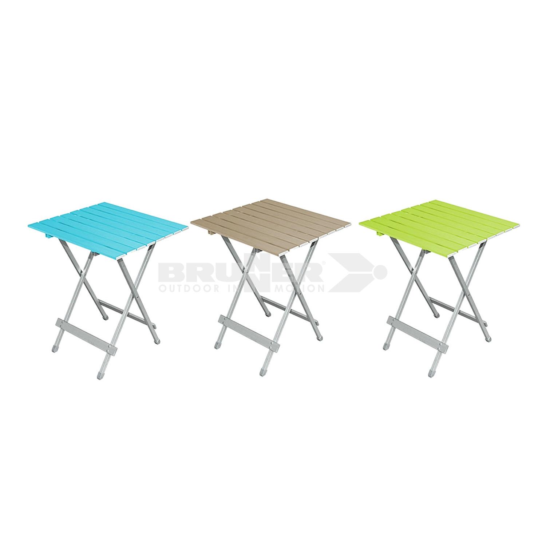 tavolo da campeggio pieghevole in alluminio con piano grigio brunner ebay. Black Bedroom Furniture Sets. Home Design Ideas
