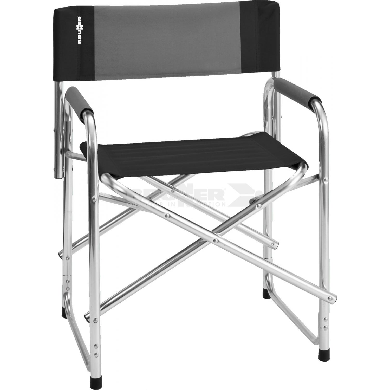 Sedia regista con struttura in alluminio